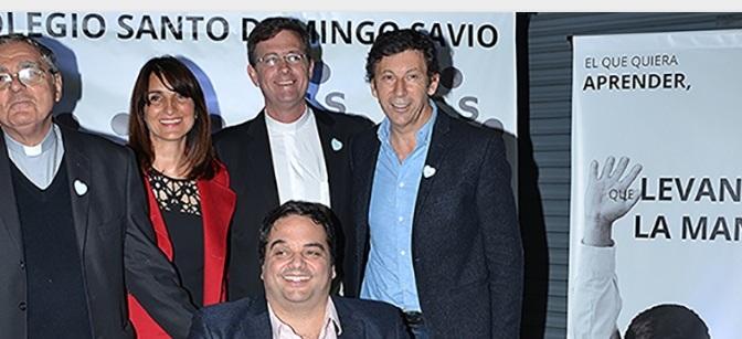 Gustavo Posse estuvo presente en la Cena Solidaria del Colegio Santo Domingo Savio