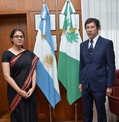 Posse se reunió con la representante de la Embajada de India en Argentina