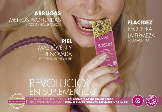 Idraet presenta Beauty Bar, la primer barrita de cereal antiage