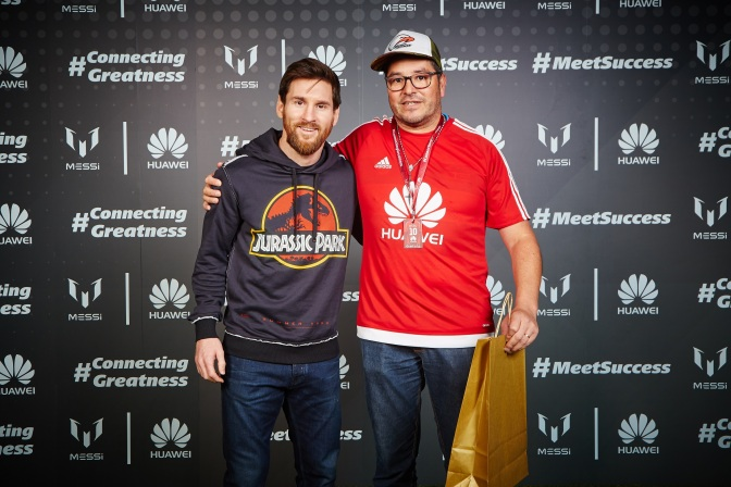 Un sueño hecho realidad, conocer a Messi gracias a Huawei