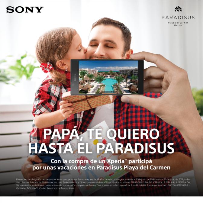 ¡Llevá a tu papá a conocer el paraíso con Sony y Paradisus!