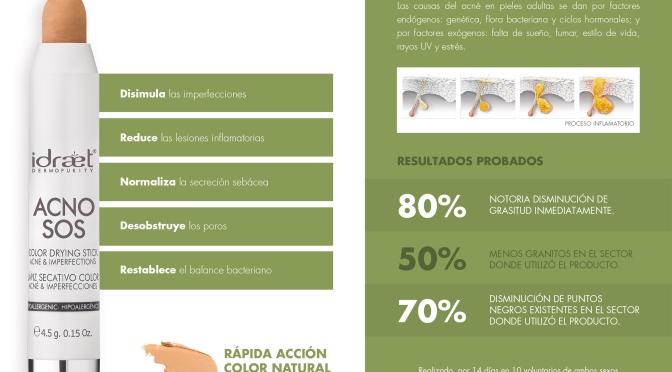 ACNOS SOS: EL LAPIZ SECATIVO DE IDRAET PARA ACNÉ E IMPERFECCIONES