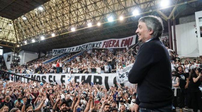 """Máximo Kirchner y un mensaje al Frente de Todos: """"Estamos dispuestos a ir para adelante, chiflen que nosotros estamos"""""""
